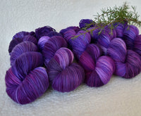 4 ply Supreme Sock Yarn Hand Dyed Grape 13169| Sock Yarn | Sally Ridgway | Shop Wool, Felt and Fibre Online