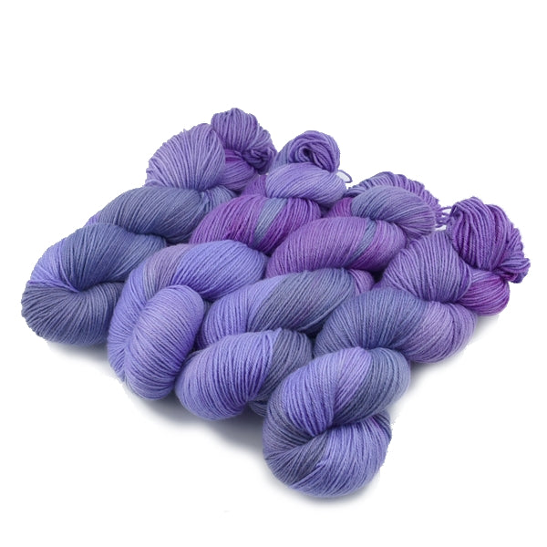 4 ply Supreme Sock Yarn Hand Dyed Purple Hydrangea 13126| Sock Yarn | Sally Ridgway | Shop Wool, Felt and Fibre Online
