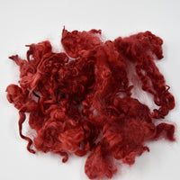 Tasmanian English Leicester Lamb Locks Hand Dyed Red 12961| English Leicester Wool Tops | Sally Ridgway | Shop Wool, Felt and Fibre Online