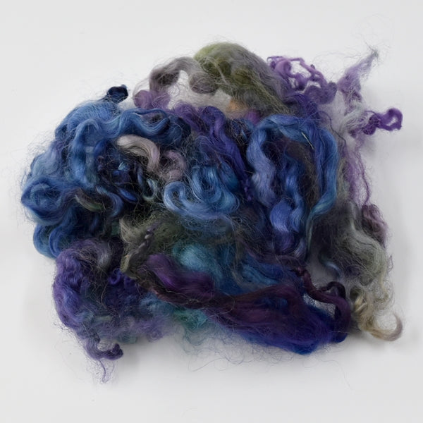 Tasmanian English Leicester Lamb Locks Hand Dyed Jewel 12964| English Leicester Wool Tops | Sally Ridgway | Shop Wool, Felt and Fibre Online