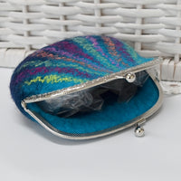 Blue Hand Made Wool Felt Coin Purse 13019| Coin Purse | Sally Ridgway | Shop Wool, Felt and Fibre Online