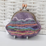 Dusty Purple Hand Made Wool Felt Coin Purse 13020| Coin Purse | Sally Ridgway | Shop Wool, Felt and Fibre Online