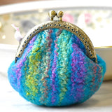 Wool Felted Coin Purse Stitch Marker Pouch Blue 12786 | Coin Purse | Sally Ridgway | Shop Wool, Felt and Fibre Online