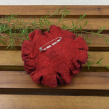 Large Wool Felt Poppy Flower Brooch Pin in Red and black 13222| Brooch | Sally Ridgway | Shop Wool, Felt and Fibre Online