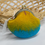 Hand Made Blue Wool Felted Coin or Accessory Purse 12999| Coin Purse | Sally Ridgway | Shop Wool, Felt and Fibre Online