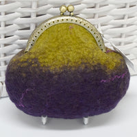 Purple Hand Made Wool Felted Coin Purse 13017| Coin Purse | Sally Ridgway | Shop Wool, Felt and Fibre Online