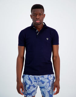 POLO DOUBLE COL EN COTON STRETCH