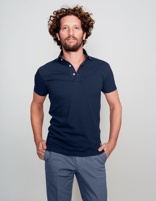 POLO SUPIMA COTON NAVY