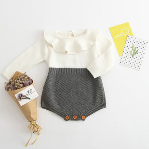 Baby Knitted Sweater  Romper - LANE FORTY SIX