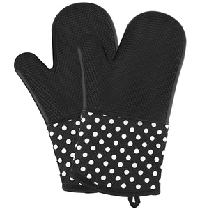 Silicone Oven Mitts - Heat Resistant to 572 °F Kitchen Oven Gloves, 1 Pair - LANE FORTY SIX