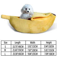Load image into Gallery viewer, Pet Cat and Dog Sofa Bed Banana Shape