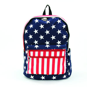 Stars and Stripes Backpack in Vinyl