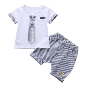 Summer Boys Handsome Suits  Boy Clothes Set 1-4 Years - LANE FORTY SIX