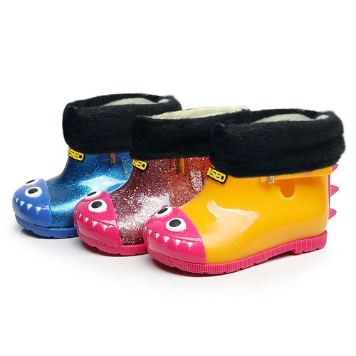 Warm Waterproof  Dinosaur Rain Boots - LANE FORTY SIX
