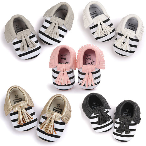 Baby Soft PU Leather Tassel Moccasins Girl and Boy - LANE FORTY SIX