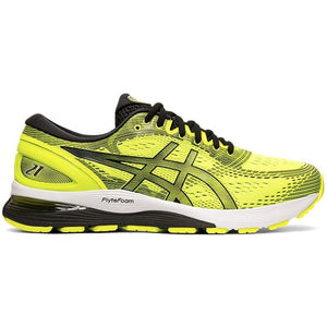 Asics Men's Gel Nimbus 21 Running Shoes Saftey Yellow / Black - achilles heel