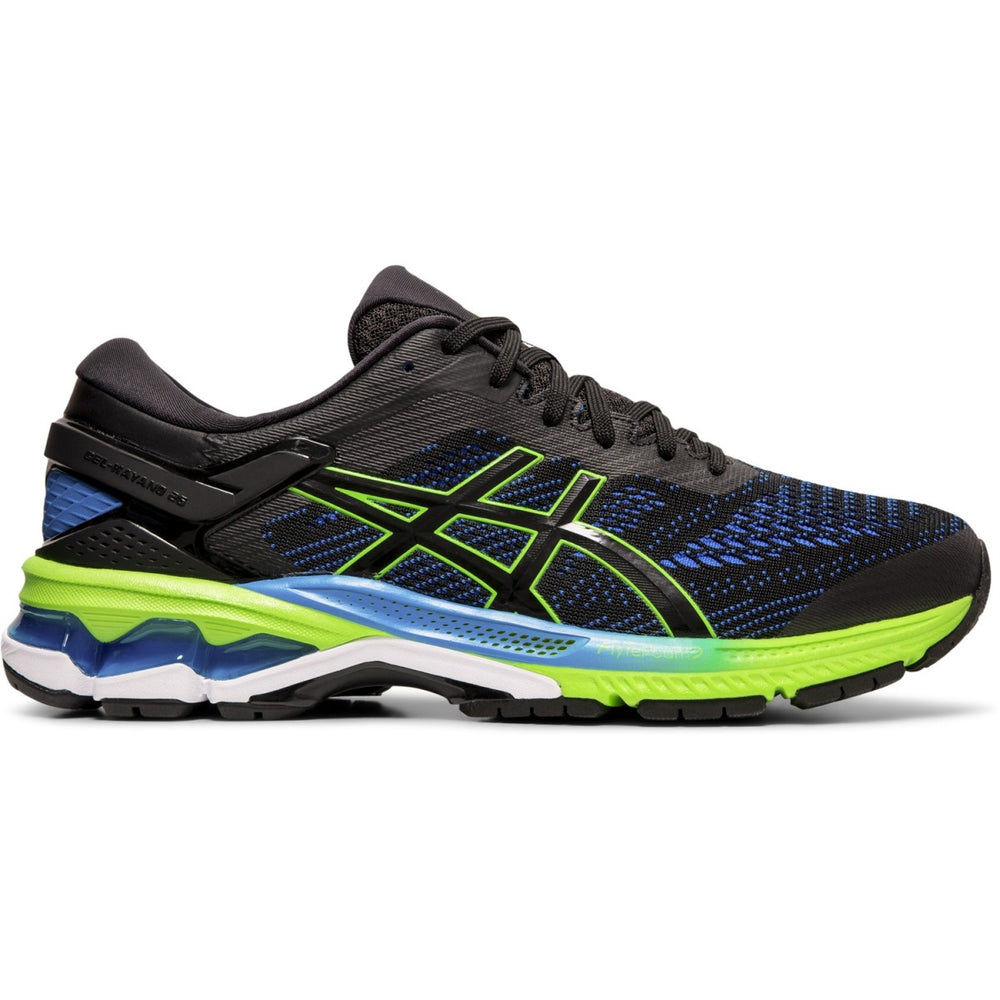 Asics Men's Gel Kayano 26 Running Shoes Black / Electric Blue