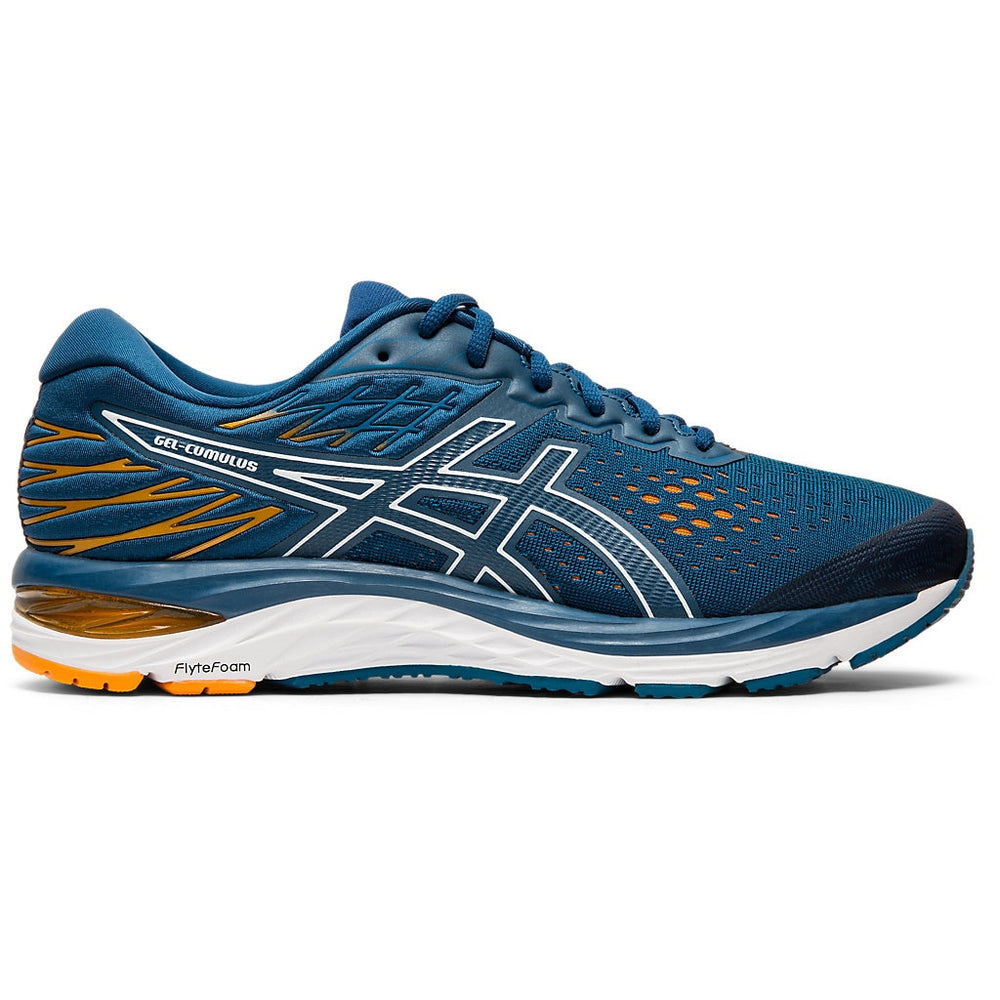 Asics Men's Gel Cumulus 21 Running Shoes Mako Blue / White - achilles heel