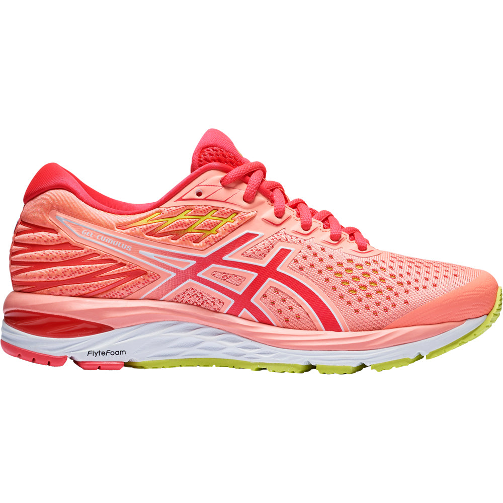 Asics Women's Gel Cumulus 21 Running Shoes Sun Coral / Laser Pink