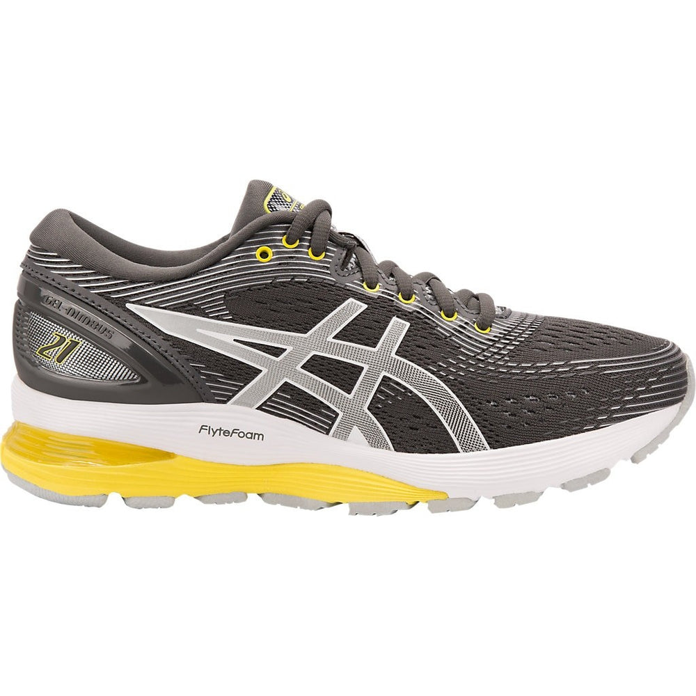 Asics Women's Gel Nimbus 21 Running Shoes Dark Grey / Mid Grey - achilles heel