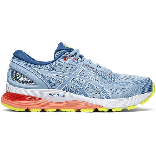 Asics Women's Gel Nimbus 21 Running Shoes Skylite / White
