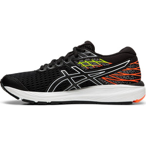Asics Kids Cumulus 21 Running Shoes Black / White - achilles heel