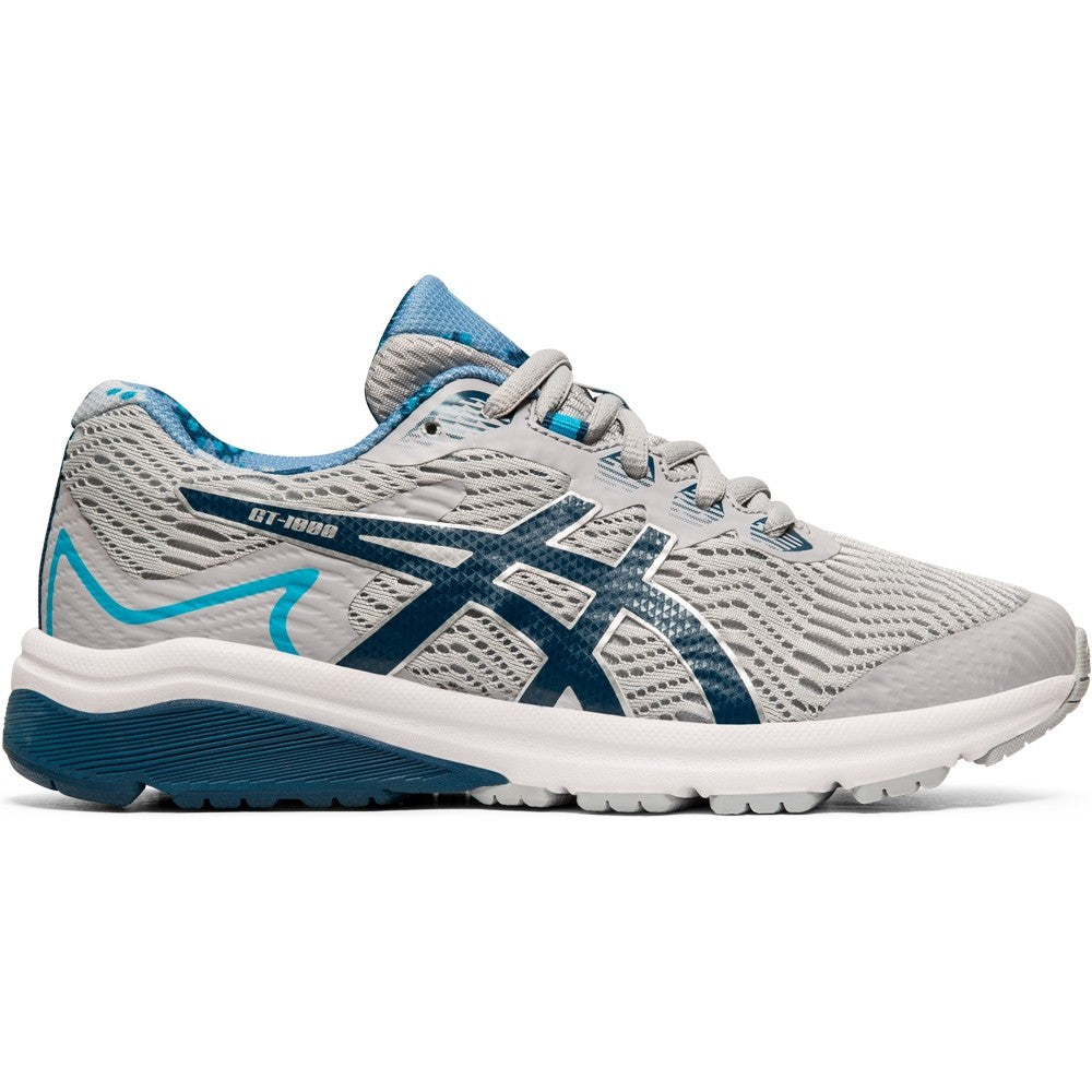 Asics Kids GT 1000 8 Running Shoes Piedmount Grey / Marko Blue