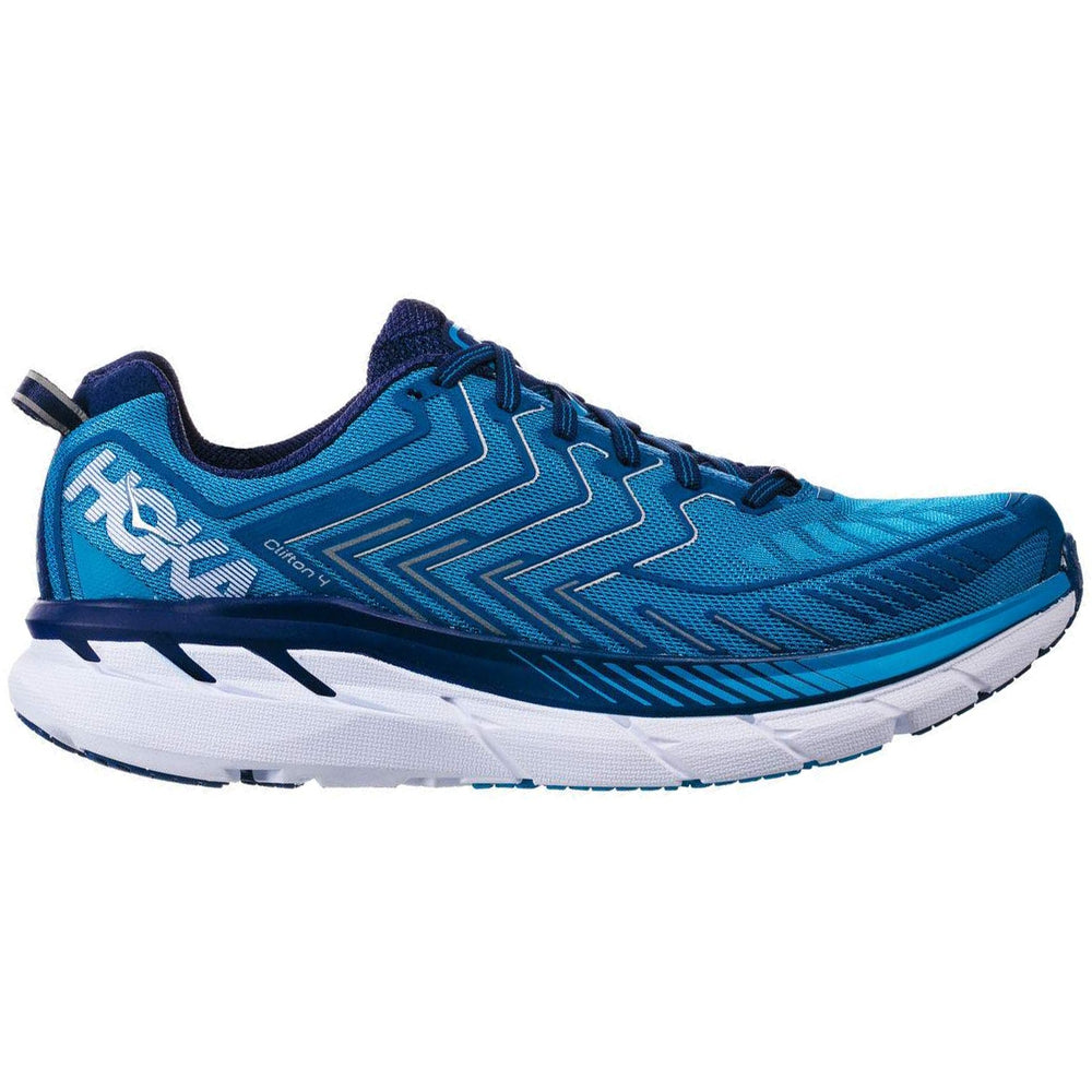 Hoka Men's Clifton 4 Running Shoes Blue & White SS18