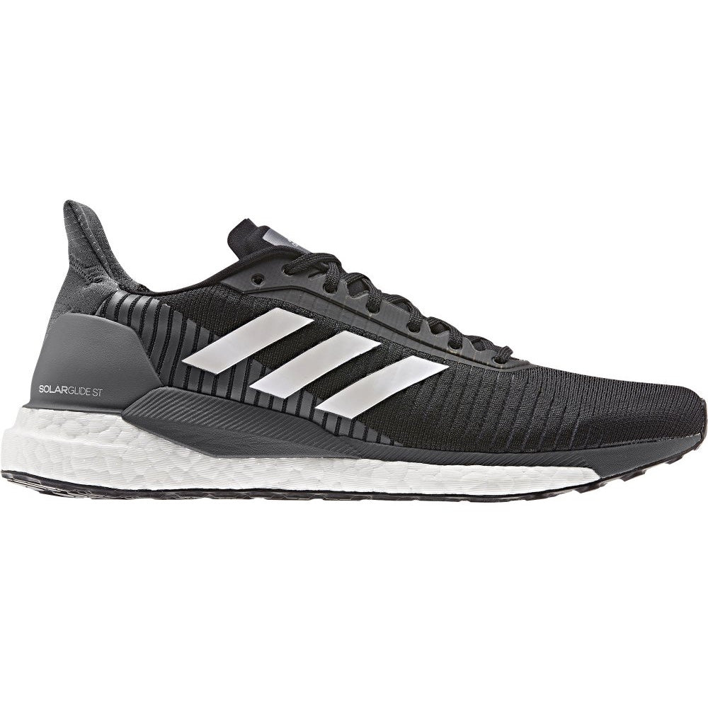 adidas Men's Solar Glide ST 19 Running Shoes Core Black / Silver / Grey Five - achilles heel