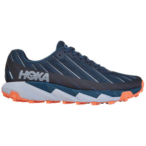 Hoka Women's Torrent Trail Running Shoes Majolica Blue / Fusion Coral - achilles heel