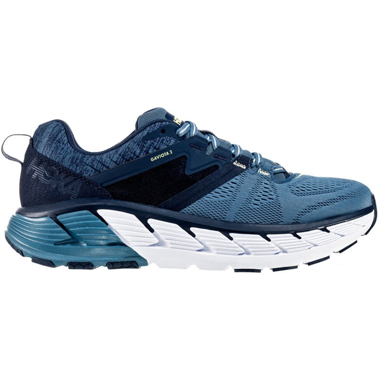 Hoka Men's Gaviota 2 2E Width Running Shoes Moonlight Ocean  /  Blue - achilles heel
