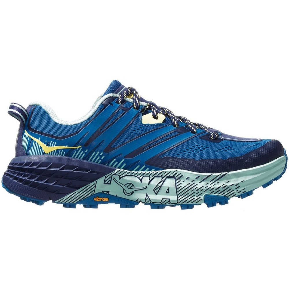 Hoka Women's Speedgoat 3 Trail Running Shoes Seaport /   Medieval Blue - achilles heel