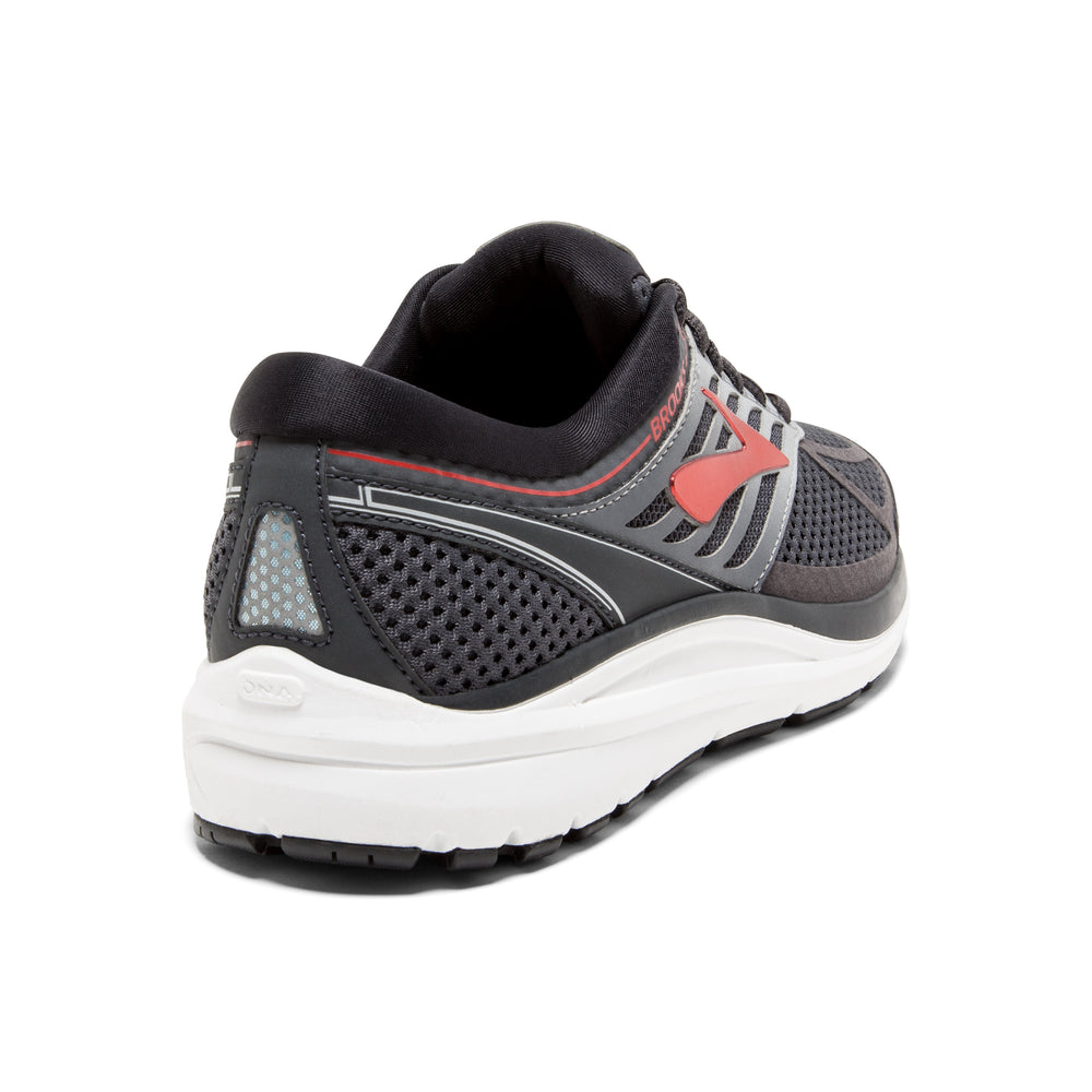 Brooks Men's Addiction 13 Running Shoes Ebony / Black / Red - achilles heel