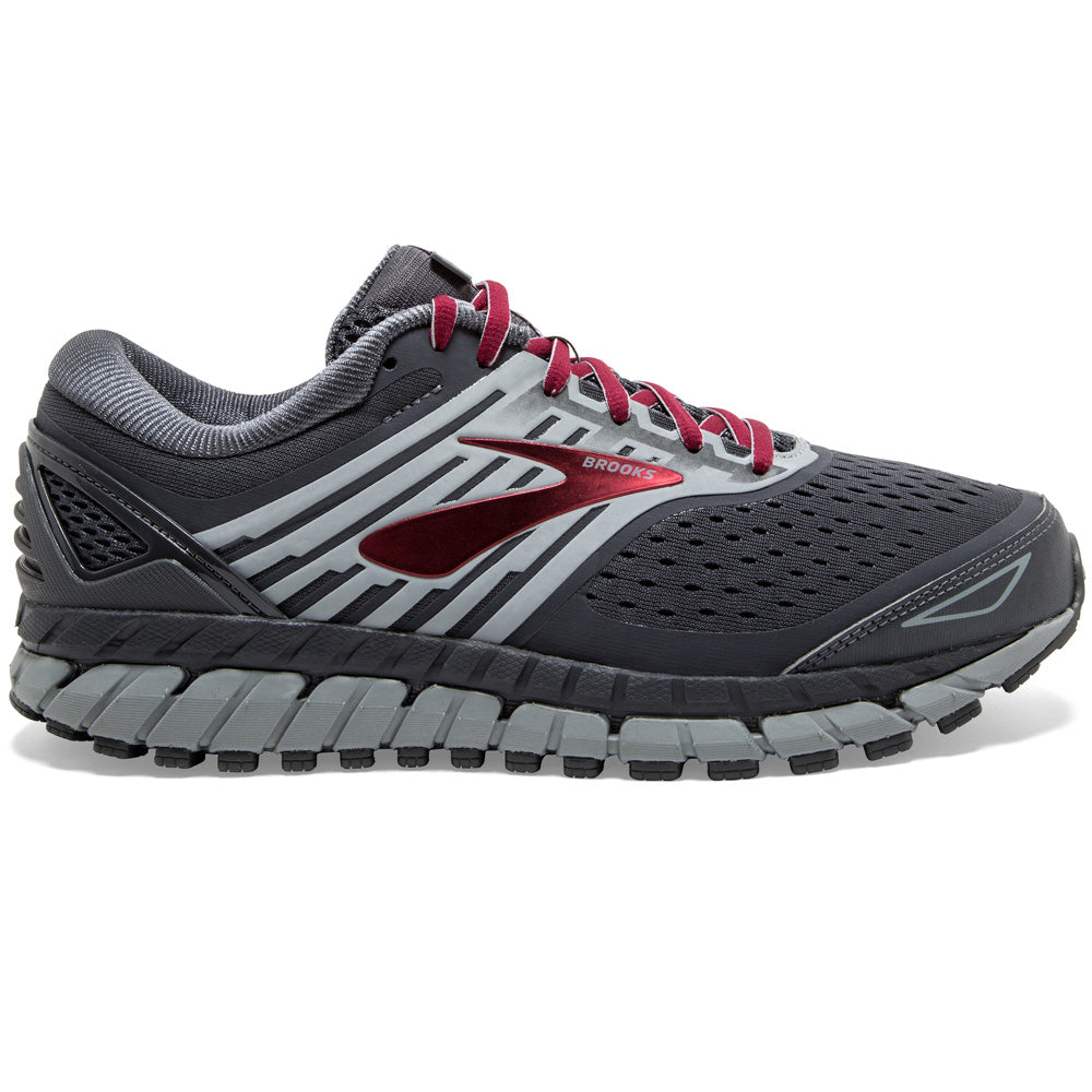 Brook's Men's Beast 18 Running Shoes Ebony / Primer / Biking Red