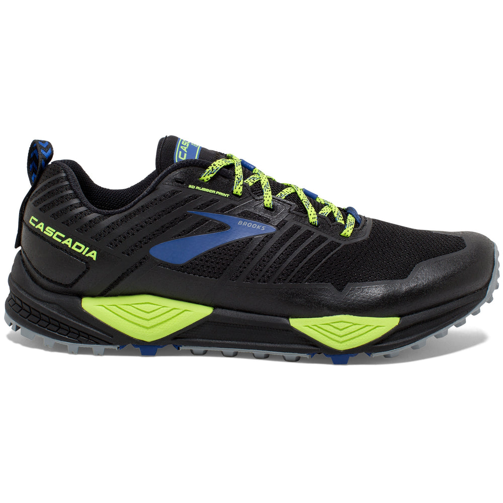 Brooks Men's Cascadia 13 Trail Running Shoes Black / Nightlife / Blue