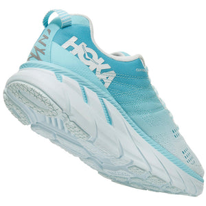 Hoka Women's Clifton 6 D Width Running Shoes Antigua Sand / Wan Blue - achilles heel