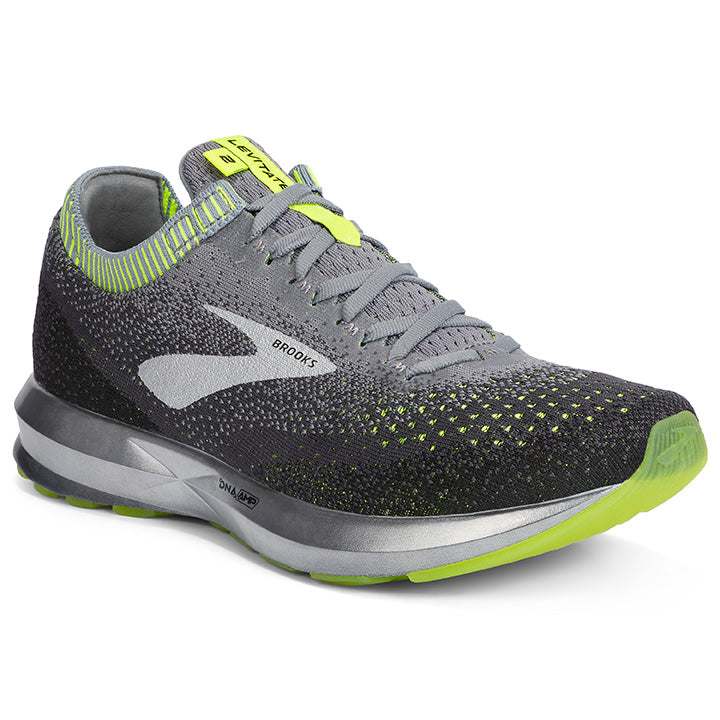Brooks Men's Levitate 2 Running Shoes Grey / Nightlife / Black - achilles heel