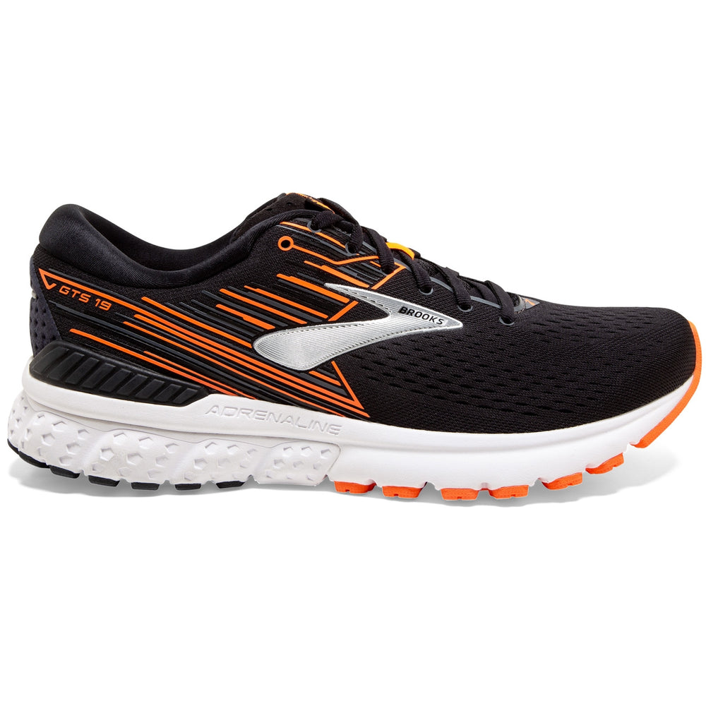 Brooks Men's Adrenaline GTS 19 Running Shoes Black / Orange / Silver