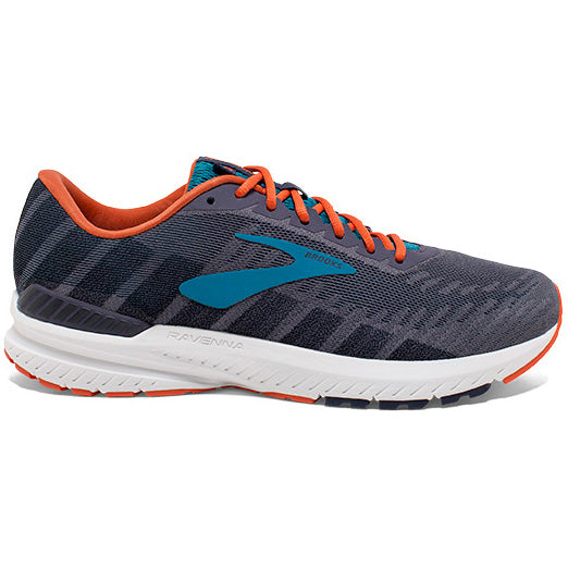 Brooks Men's Ravenna 10 Running Shoes Ebony / Navy / Mandarin - achilles heel