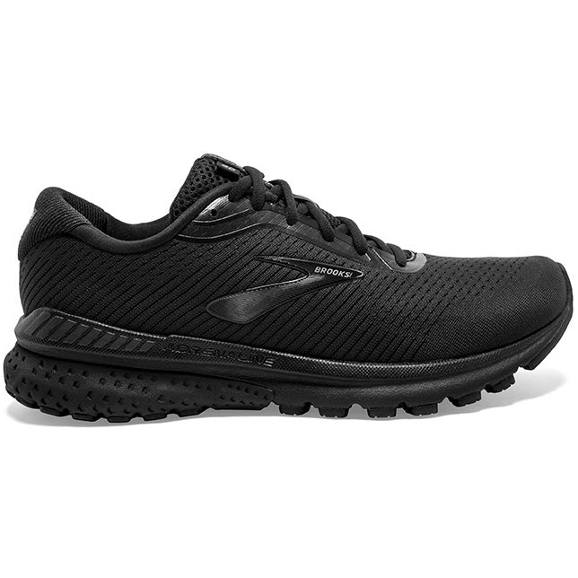 Brooks Women's Adrenaline GTS 20 Running Shoes Black / Grey - achilles heel