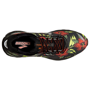 Brooks Men's Adrenaline GTS 20 Tropical Running Shoes Black / Burnt Ochre / Green - achilles heel