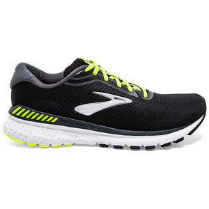 Brooks Men's Adrenaline GTS 20 Running Shoes Black / Nightlife / White - achilles heel