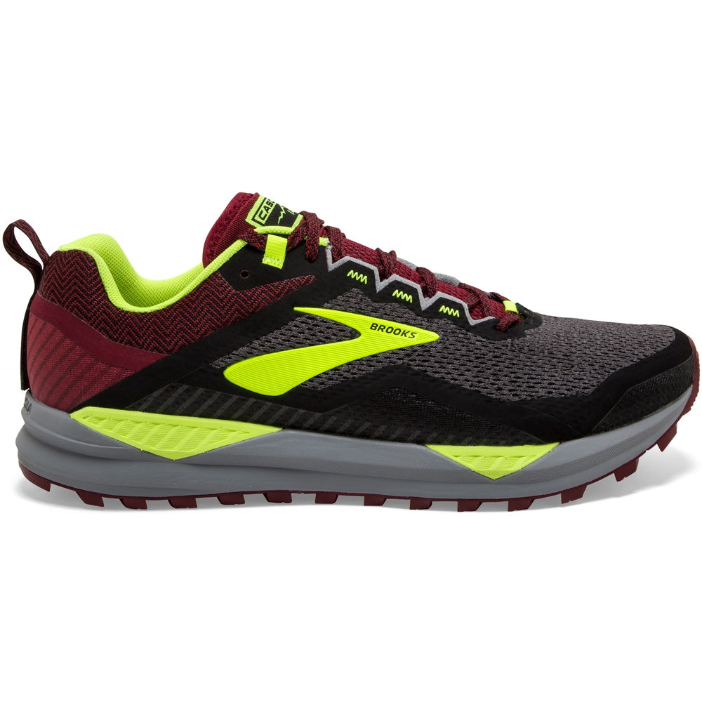 Brooks Men's Cascadia 14 Trail Running Shoes Black / Red / Nightlife
