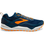 Brooks Men's Cascadia 14 Trail Running Shoes Poseidon / Orange / Grey - achilles heel