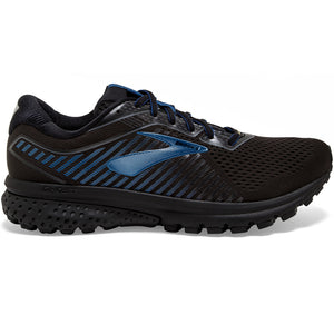 Brooks Men's Ghost 12  GORE-TEX Running Shoes Black / Ebony / Blue