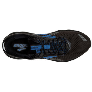 Brooks Men's Ghost 12  GORE-TEX Running Shoes Black / Ebony / Blue - achilles heel