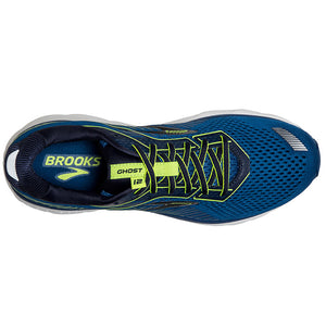 Brooks Men's Ghost 12 Running Shoes Black / Lime / Blue Grass - achilles heel
