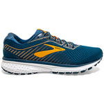 Brooks Men's Ghost 12 Running Shoes Poseidon / Grey / Orange - achilles heel