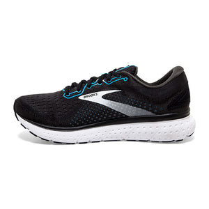 Brooks Men's Glycerin 18 Running Shoes Black / Atomic Blue / White - achilles heel