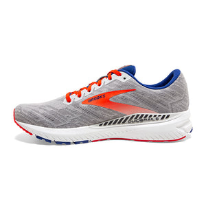 Brooks Men's Ravenna 11 Running Shoes Grey / Cherry / Mazarine - achilles heel